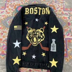 Boston bruins custom denim jacket!